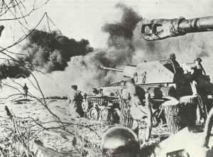 SU-76 im Gefecht bei Tarnopol