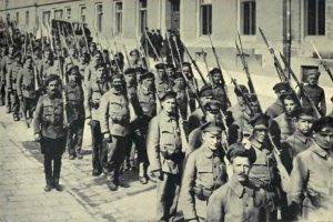Marinesoldaten der ungarischen Sowjetrepublik