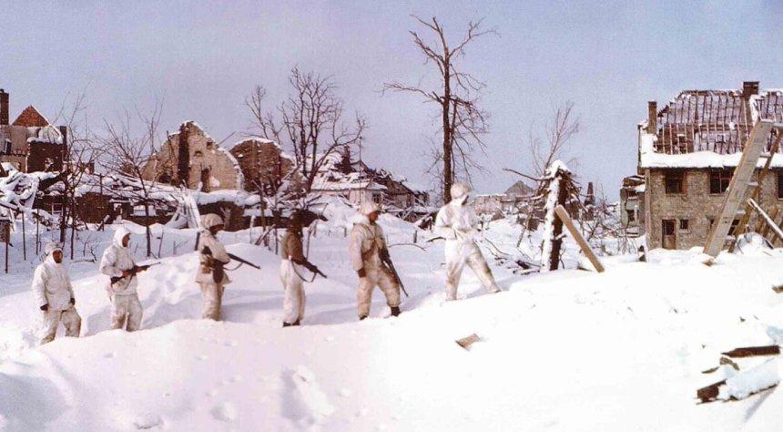 US-Patrouille in den Ardennen