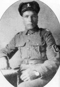 Soldat des Partisanen-Bataillons der estnischen Armee
