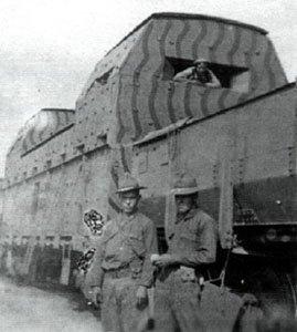 US-Truppen Panzerzug Sibirien