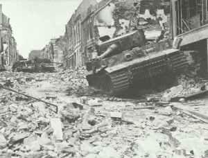 Zerstörte Tiger-Panzer Caen