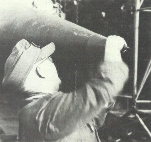 V-2 Steuerungssystem am Raketenkopf