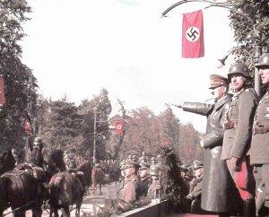 Hitler Siegesparade Warschau