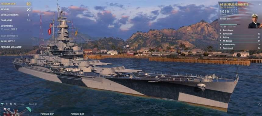 Schlachtschiff USS Massachusetts