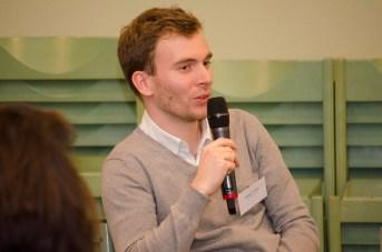 Philipp Schäfer bei der Podiumsdiskussion