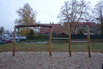 Initiative Weltoffenes Gohlis übergibt Spielplatz an Bewohner_Innen der Gemeinschaftsunterkunft Zschortauer Straße 44, 04129 Leipzig