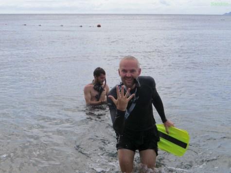 5 Punkte beim Schwimmtest
