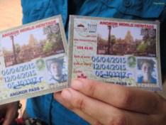 Angkor Ticket mit Lichtbild