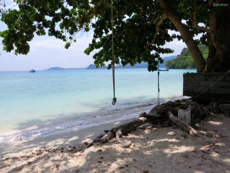 Gapang Beach - unser Zimmer nur 3 Minuten von hier entfernt