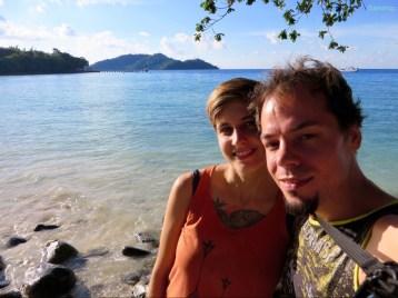 Aber der Strand war sehr hübsch