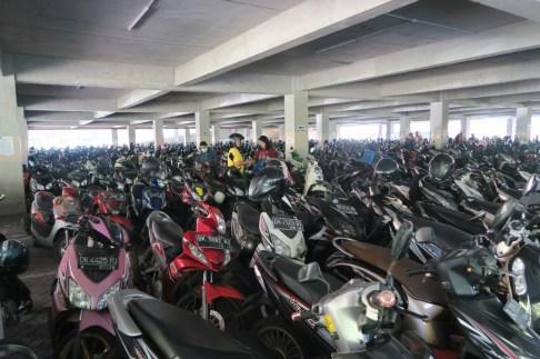 Rollerparkplatz in der Shoppingmall