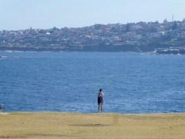 Sandra an der Küste Sydneys