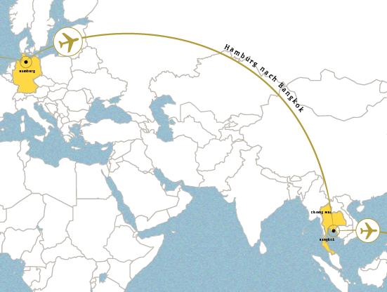 Hamburg nach Bangkok (1.10.2016)