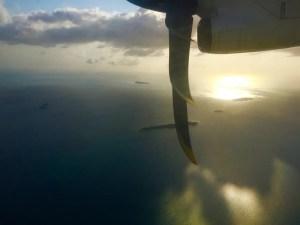 Landeanflug auf Unguja