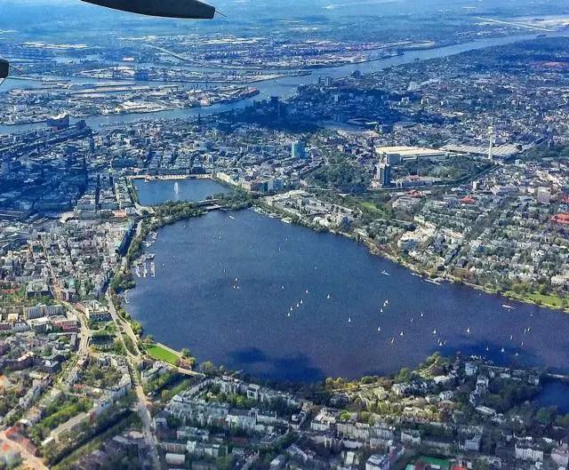 Hamburg-Luftaufnahme-Alster-Innenstadt-Elbe - 1