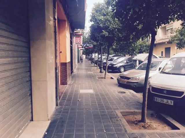 Valencia leere Straße