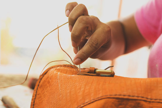 Each Kuero handbag is crafted by hand one at a time.