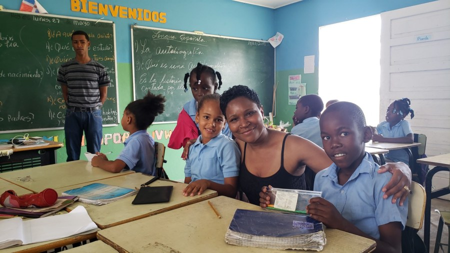 Donated-school-supplies-in-Dominican-Republic