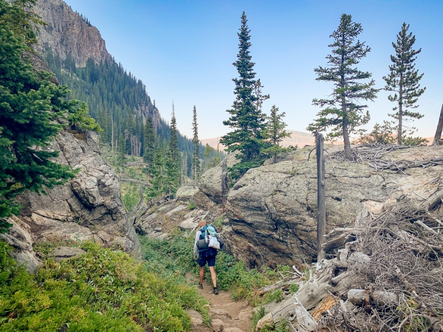 Hiking East inlet Trail Rocky Mountain National Park