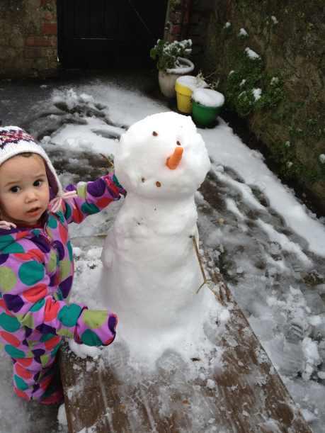 Built a snowman