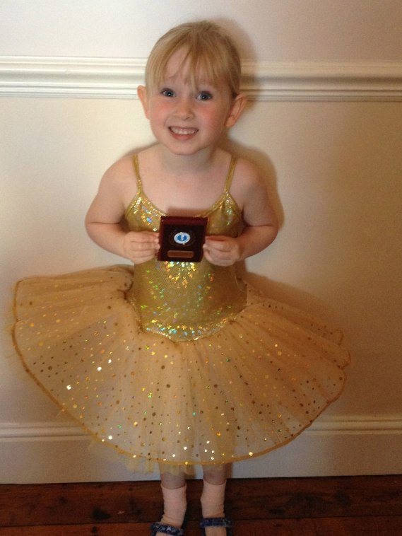 She got her first ballet award