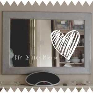 DIY Silver Glitter Mirror