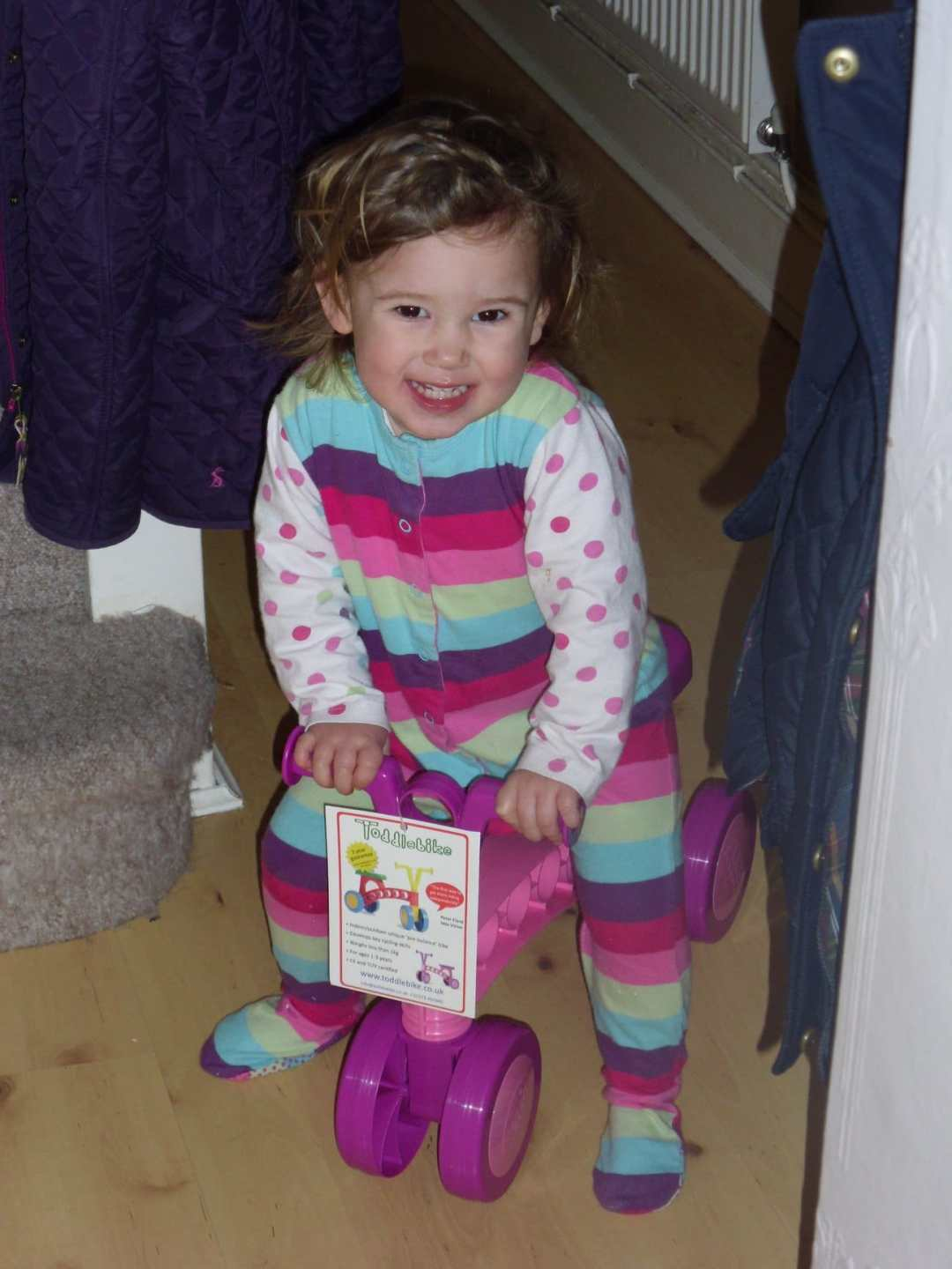 Loving her new Toddlebike!