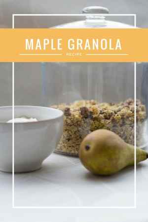 maple syrup granola