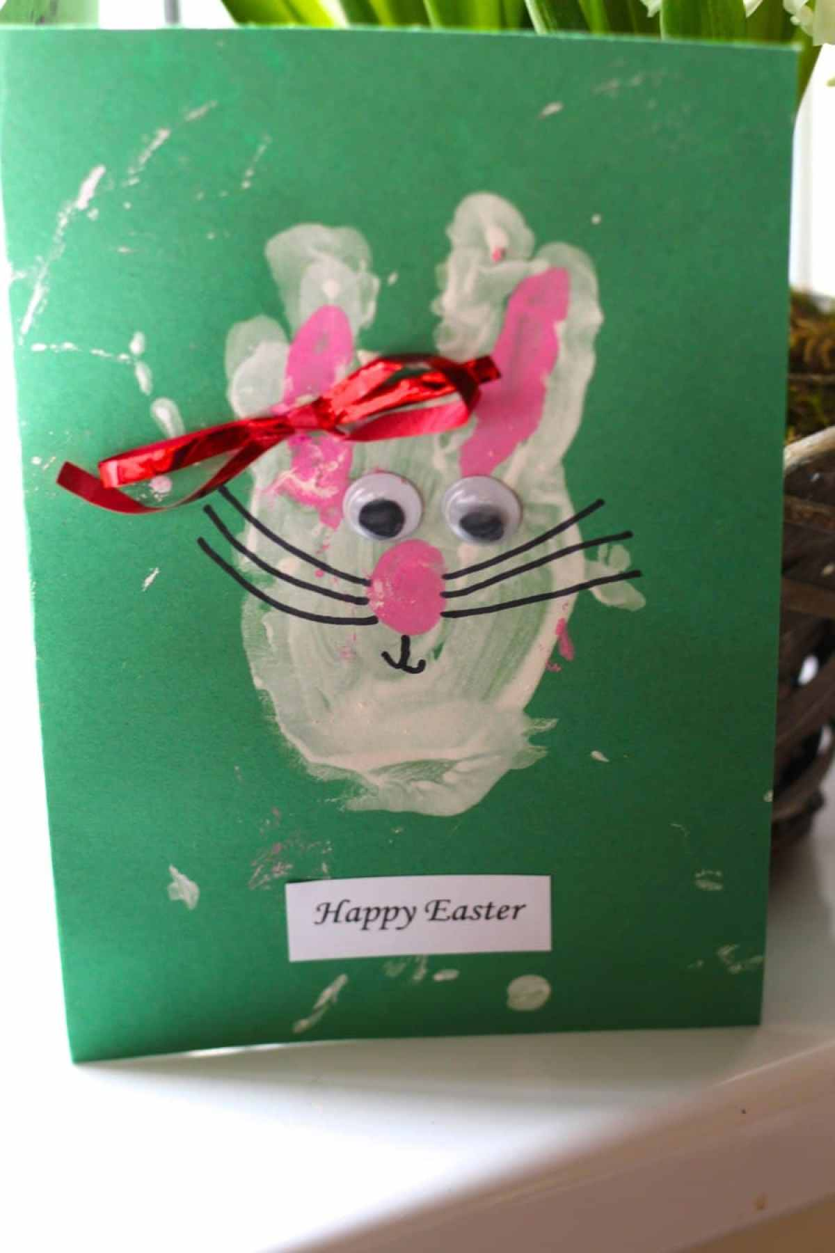 kids easter bunny card