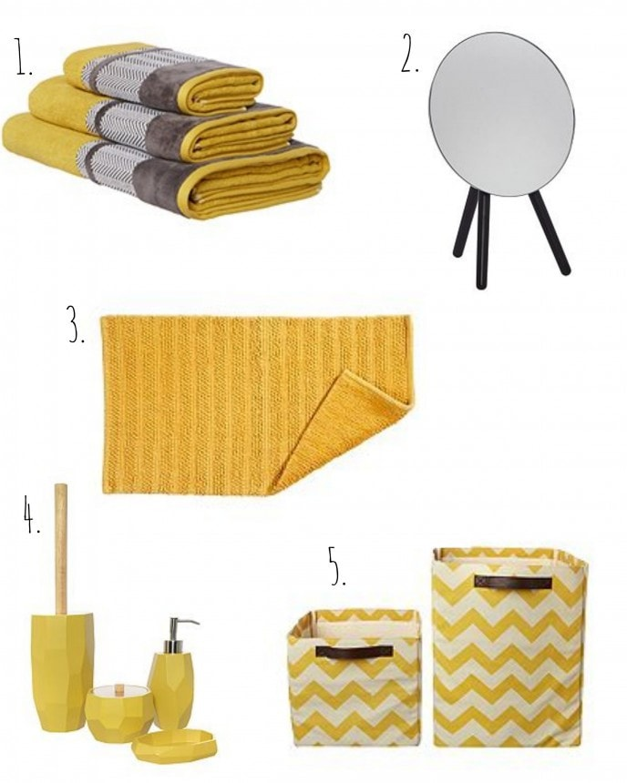 bright bathroom accessories