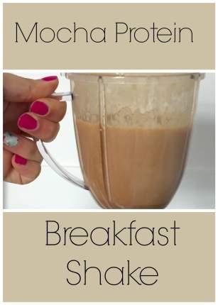 mocha protein breakfast shake