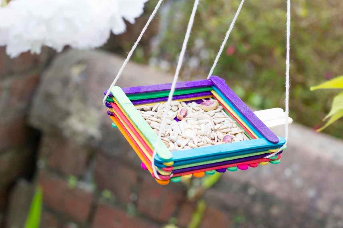 ice lolly stick bird feeder