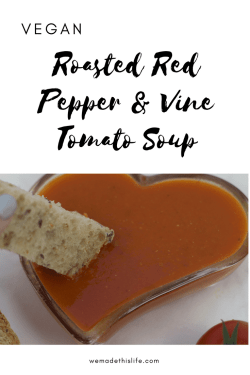 roasted red pepper and vine tomato soup