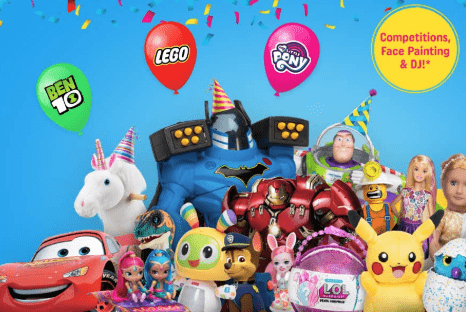 Free Party At Smyths Toy Stores on Saturday 26th May 2018