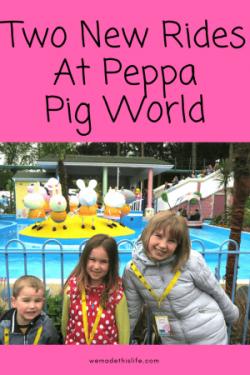 Two new rides at Peppa Pig World