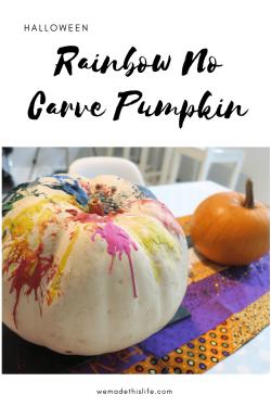 Rainbow No Carve Pumpkin Tutorial