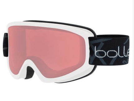 BOLLE FREEZE SKI GOGGLE - MATTE WHITE WITH VERMILLON LENS