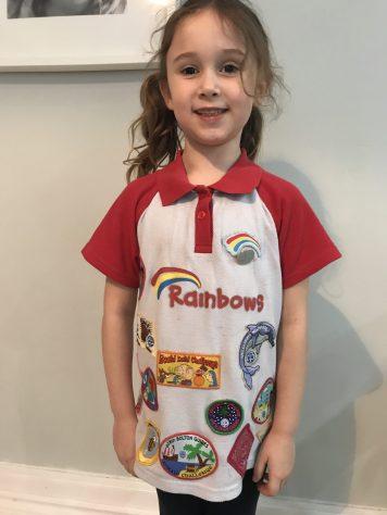 Miss J finished Rainbows