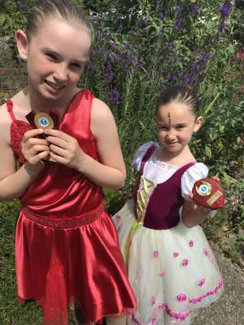 The girls got their dancing medals