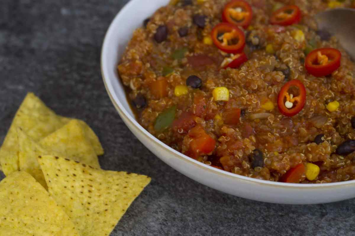 vegan quinoa chilli