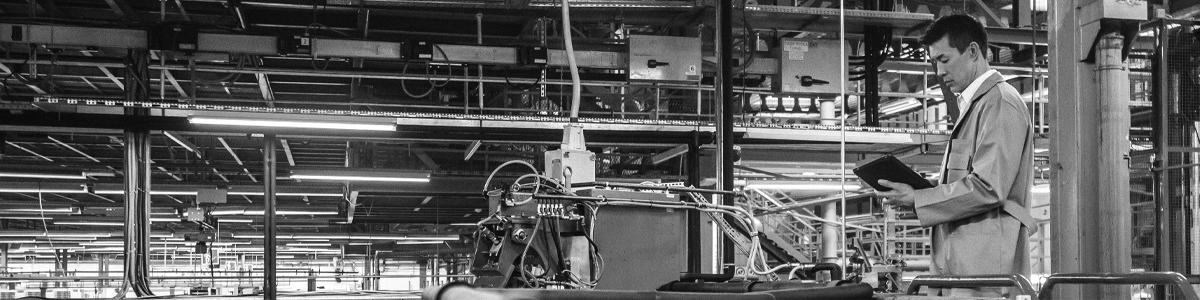 engineer on factory floor