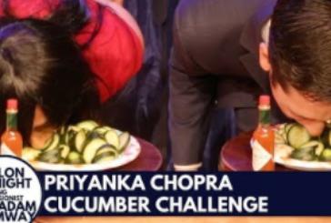 Priyanka Chopra Eats Cucumbers Fallon Tonight
