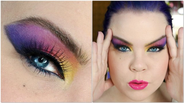 80S Eye Makeup 1980s Dramatic Af Makeup Tutorial Youtube