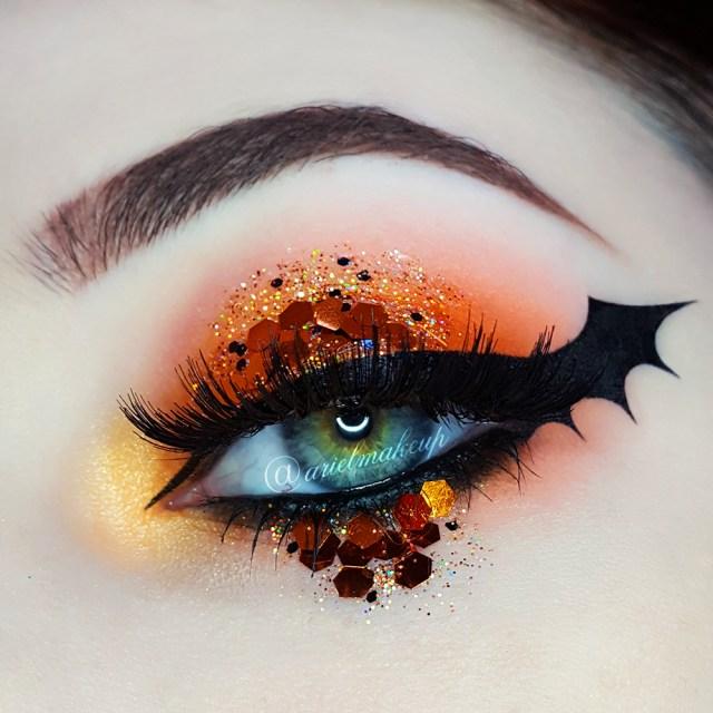 Bat Eye Makeup Ariel Make Up Make Up Beauty With A Princess Touch Halloween