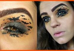 Bat Eye Makeup Bat Halloween Makeup Tutorial Youtube