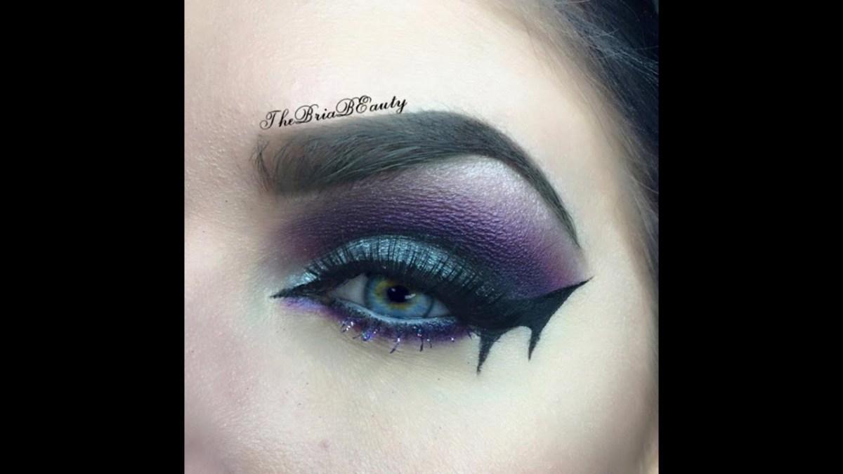 Bat Eye Makeup Bat Wing Halloween Makeup Tutorial Thebriabeauty Youtube