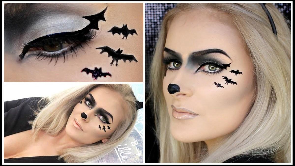 Bat Eye Makeup Easy Bat Makeup Sexy Cute Halloween Animal Look Youtube