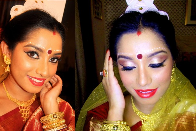 Bengali Eye Makeup Indian Bridal Makeup Tutorial Bengali Bride Makeup Colaboration