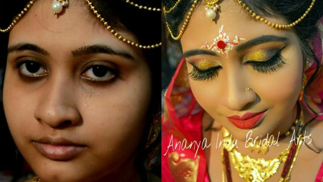 Bengali Eye Makeup Traditional Bengali Bridal Wedding Makeup Tutorial Youtube